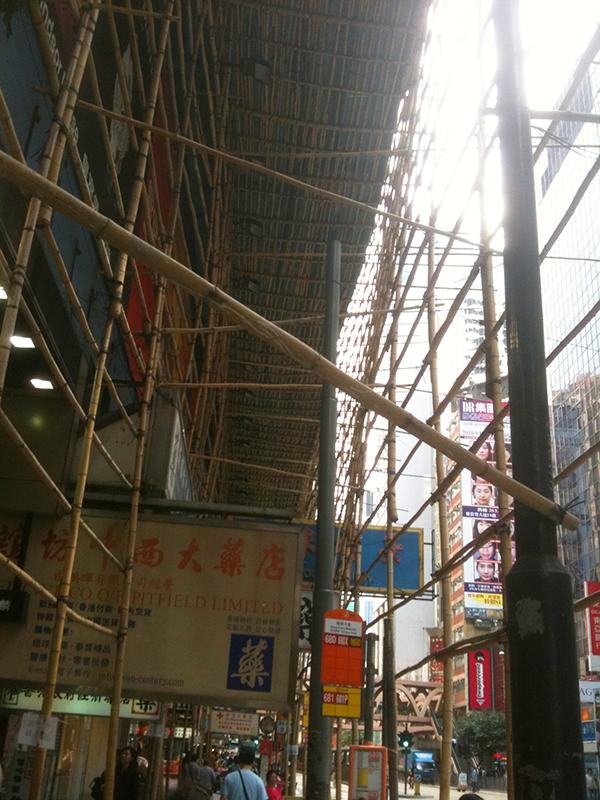 香港 竹の足場職人