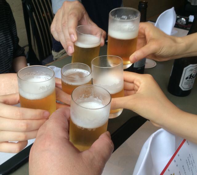 全員ビール