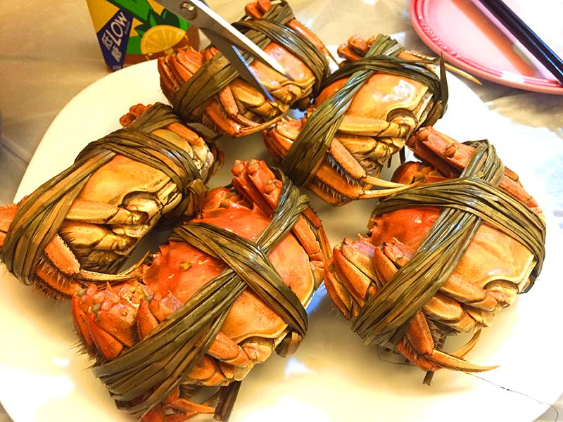 上海蟹 自炊